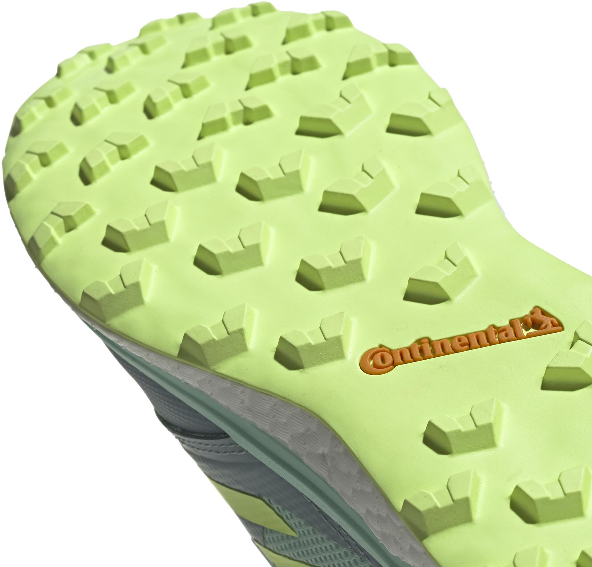 adidas Women's Terrex Agravic XT GTX Zapatillas de trail running Ash Grey Hi Res Yellow Clear Mint | 4 (UK)